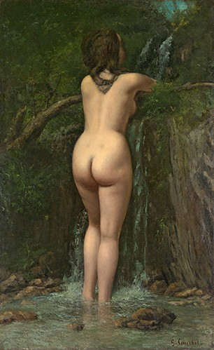 portrait and figure - La Fuente - Courbet, Gustave