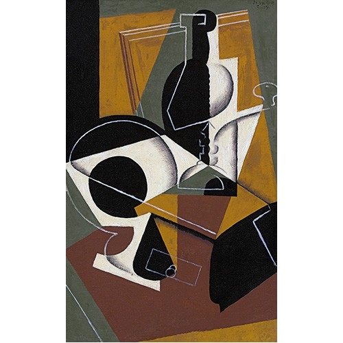 Comprar abstracts paintings - Molinillo de cafe y botella online - Gris, Juan