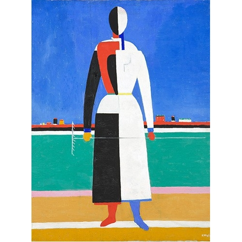 Comprar abstracts paintings - Woman with rake, 1930-32 online - Malevich, Kazimir S.