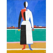 Woman with rake, 1930-32
