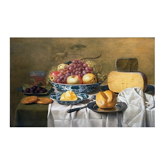"""Still Life of Fruit and Cheese"""