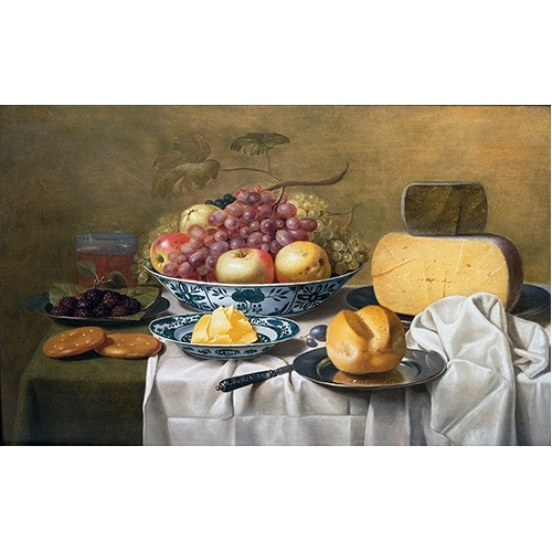 Still Life of Fruit and Cheese