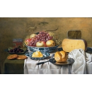 "Cuadro ""Still Life of Fruit and Cheese"""