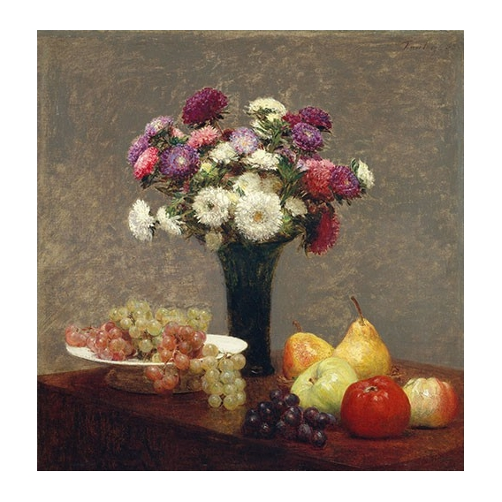 Asters and Fruit on a Table