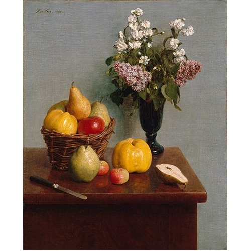 Comprar cuadros de bodegones - Cuadro Still Life with Flowers and Fruit online - Fantin Latour, Henri