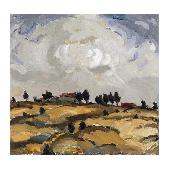 """Autumn landscape with clouds"""