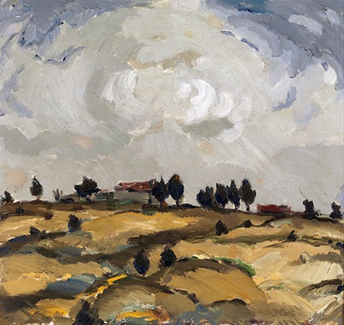 landscapes - Autumn landscape with clouds - Aalto, Ilmari