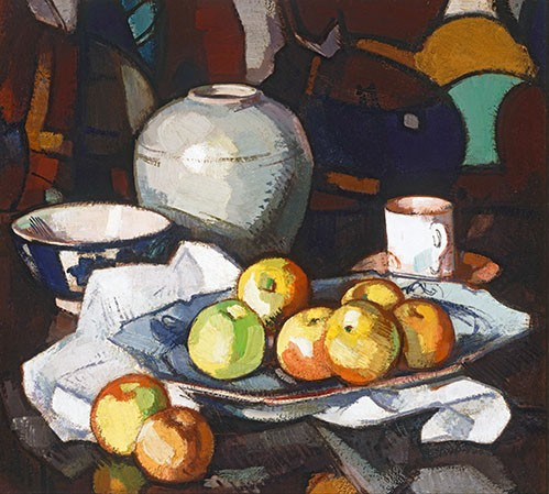 cuadros de bodegones - Cuadro Still life apples and jar - Peplow, Samuel