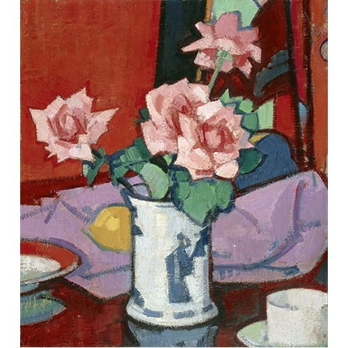 Cuadro Pink Roses, Chinese Vase
