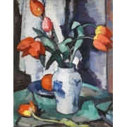 "Cuadro ""Orange tulips, Chinese Vase"""