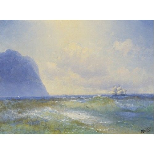Comprar seascapes - Ship at sea online - Aivazovsky, Ivan Konstantinovich