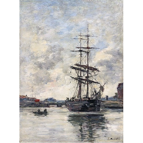 Comprar cuadros de marinas - Cuadro Ship on the Touques, 1888 online - Boudin, Eugene