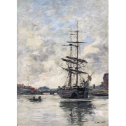 Cuadro Ship on the Touques, 1888
