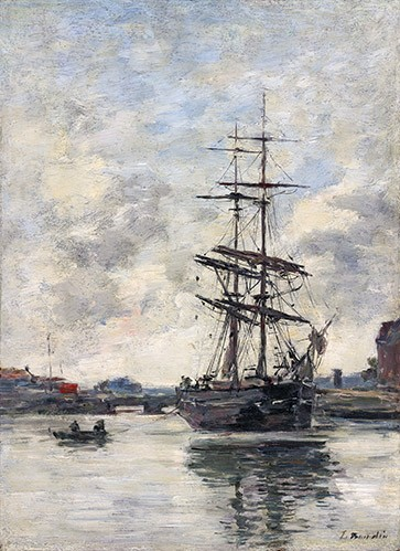 seascapes - Ship on the Touques, 1888 - Boudin, Eugene