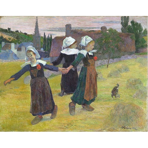 Comprar portrait and figure - Breton Girls Dancing, Pont-Aven online - Gauguin, Paul