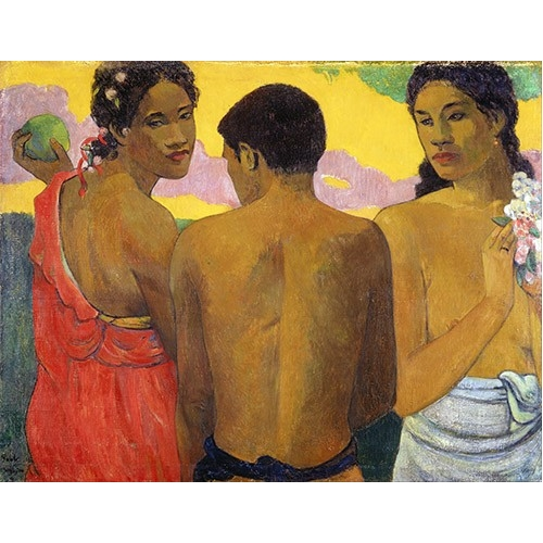 Comprar portrait and figure - Tres Tahitianos online - Gauguin, Paul