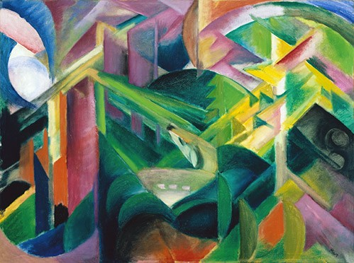 abstracts paintings - Deer in a Monastery Garden - Marc, Franz