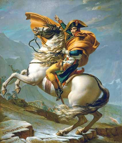 portrait and figure - Bonaparte cruzando los Alpes, 1801 - David, Jacques Louis
