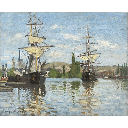 Comprar cuadros de marinas - Cuadro Ships Riding on the Seine at Rouen, 1872 online - Monet, Claude