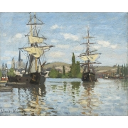 "Cuadro ""Ships Riding on the Seine at Rouen, 1872"""
