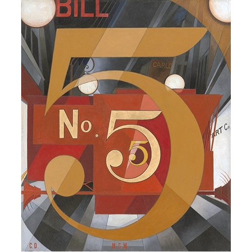 Comprar contemporary paintings - I Saw the Figure 5 in Gold online - Demuth, Charles