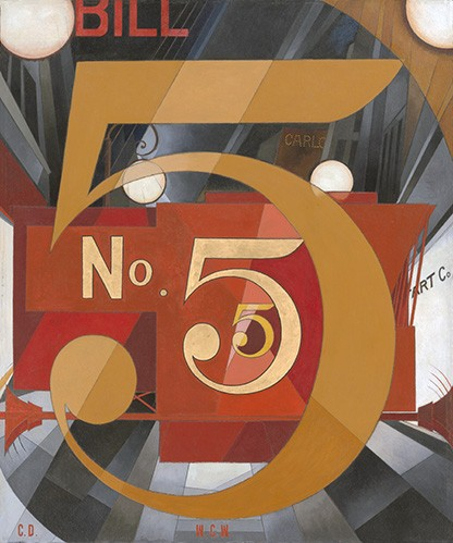 contemporary paintings - I Saw the Figure 5 in Gold - Demuth, Charles