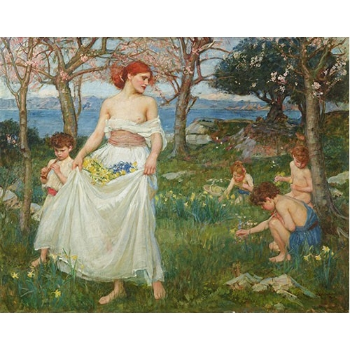 Comprar portrait and figure - Le Champ Du Printemps online - Waterhouse, John William