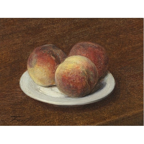 """Three Peaches on a Plate, 1868"""