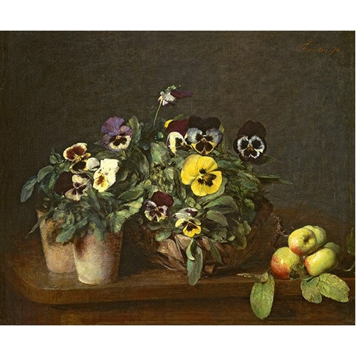 Cuadro Still Life with Pansies