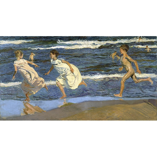 Comprar seascapes - Picture Running on the beach online - Sorolla, Joaquin