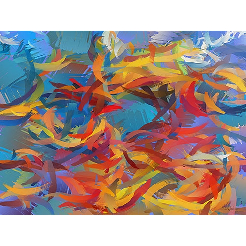 Comprar abstracts paintings - Picture Moderno CM12426 online - Medeiros, Celito