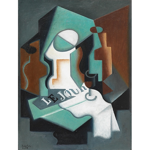 Comprar abstracts paintings - Picture Botella y frutero, 1919 online - Gris, Juan