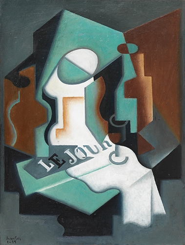 abstracts paintings - Picture Botella y frutero, 1919 - Gris, Juan