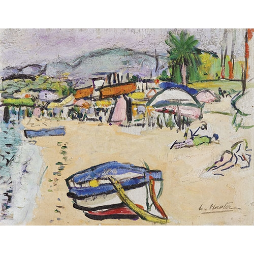 Comprar cuadros de marinas - Cuadro On the beach, south of France online - Hunter, G.L.
