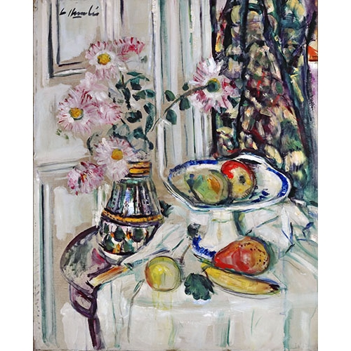 Comprar Still life paintings - Still life with daisies and fruit online - Hunter, G.L.