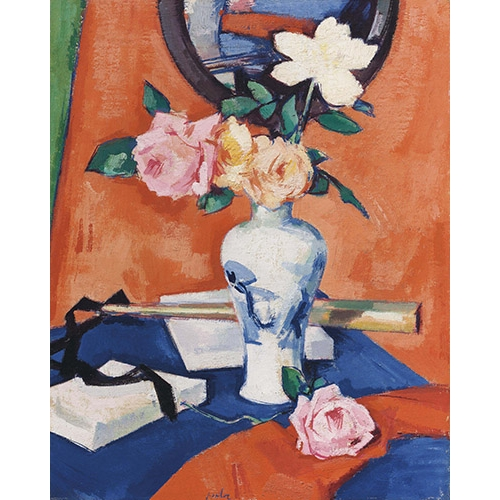 Comprar flowers - Roses in a vase against an orange background online - Peplow, Samuel