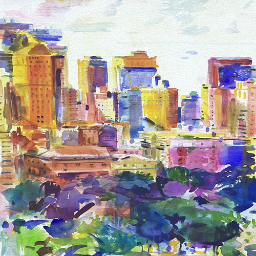 Comprar contemporary paintings - Cidades-1 online - Tapissan, James