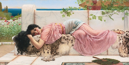 portrait and figure - When the heart is young - Godward, John William