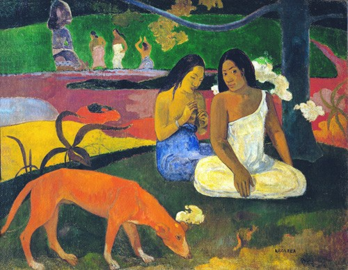 portrait and figure - Arearea - Gauguin, Paul