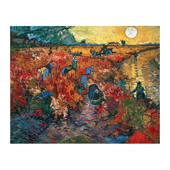 The Red Vineyard At Arles, 1888