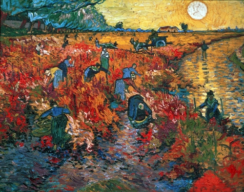 cuadros de paisajes - The Red Vineyard At Arles, 1888 - Van Gogh, Vincent