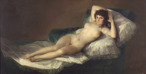 portrait and figure - La maja desnuda - Goya y Lucientes, Francisco de