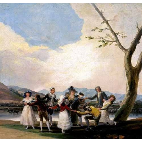 Comprar portrait and figure - La gallina ciega online - Goya y Lucientes, Francisco de