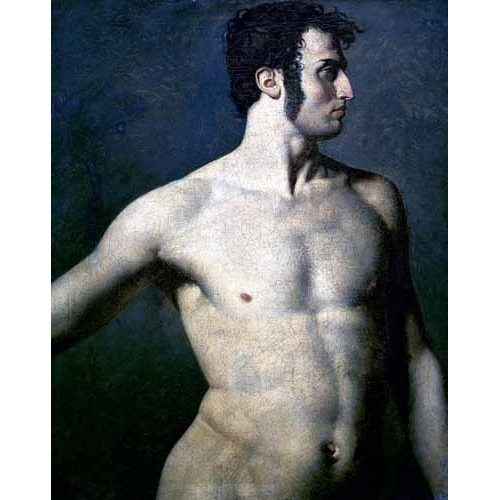 Comprar nude paintings - Torso de hombre online - Ingres, Jean-Auguste-Dominique