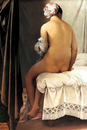 portrait and figure - La bañista de Valpincon, 1808 - Ingres, Jean-Auguste-Dominique