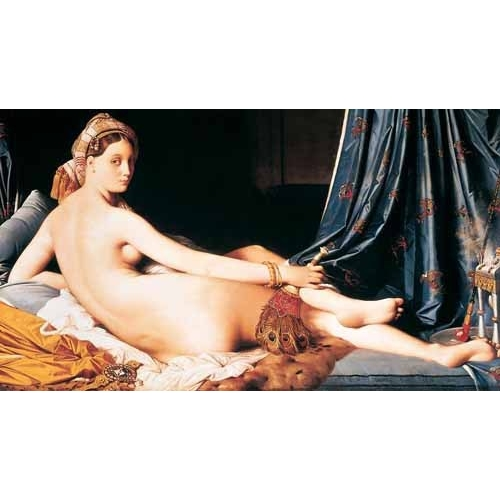 Comprar nude paintings - La Gran Odalisca, 1814 online - Ingres, Jean-Auguste-Dominique