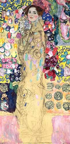 portrait and figure - Retrato de Maria Munk, (1917-18) - Klimt, Gustav