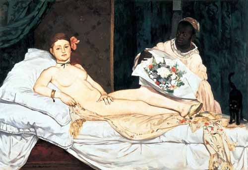 portrait and figure - Olympia, 1863 - Manet, Eduard