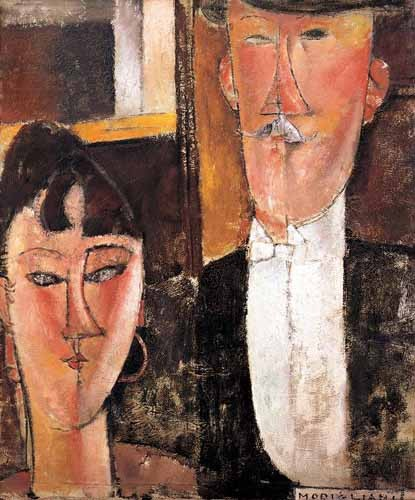 portrait and figure - Pareja de novios - Modigliani, Amedeo