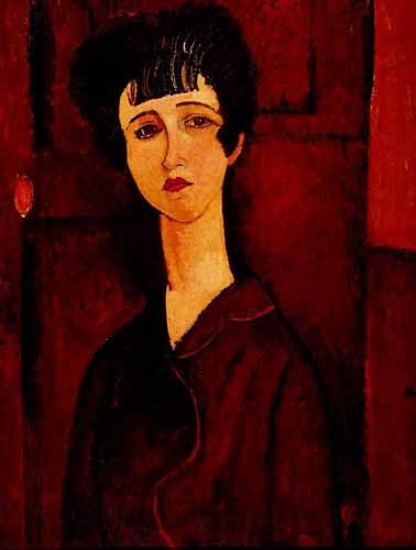 portrait and figure - Retrato de una chica - Modigliani, Amedeo